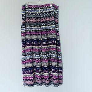 Mossimo Bohemian Drawstring Maxi Skirt
